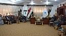 رئيس مجلس المحافظة يناقش شحة المياه مع عدد من فلاحي ناحية واسط