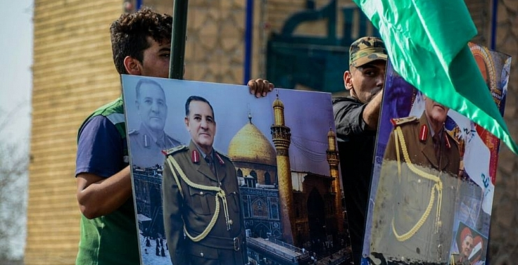 ابناء واسط يشيعون جثمان الشهيد اللواء الركن ابو رغيف معاون قائد عمليات الانبار