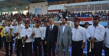 وزير الشباب والرياضة يفتتح ملعب النعمانية الرياضي
