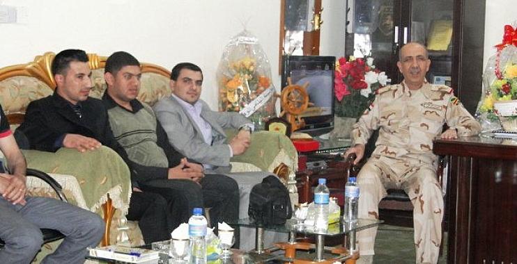 قائد عمليات البصرة يلتقي وفد برلمان شباب واسط