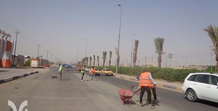 واسط تطلق حملة تنظيف للمدينة شارك فيها العشرات من الأهالي والموظفين طوعياً