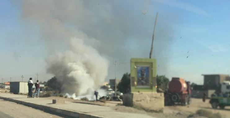 حريق يلتهم مجمعاً لإطارات السيارات في واسط