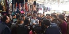 """الاتفاق على صيغة عمل لإعادة أصحاب البسطات إلى """"سوق الشيشان"""""""