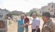 قائمقام الكوت  يطلع على مشكلة طفح مياه الصرف الصحي في منطقة العمارات السبعة