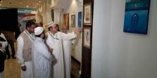 معرض الفنان التشكيلي العراقي عباس العمار يتيمم في رحاب البيت العتيق