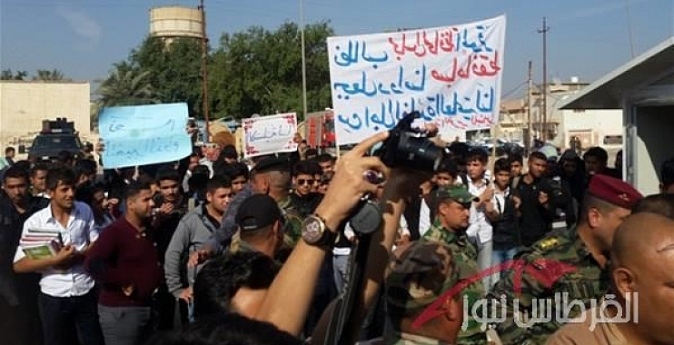 طلبة المدارس مزدوجة الدوام في واسط يتظاهرون للمطالبة بتحويل دوامهم إلى صباحي