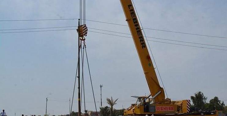 البدء بأعمال نصب جسر حي الجهاد الكونكريتي